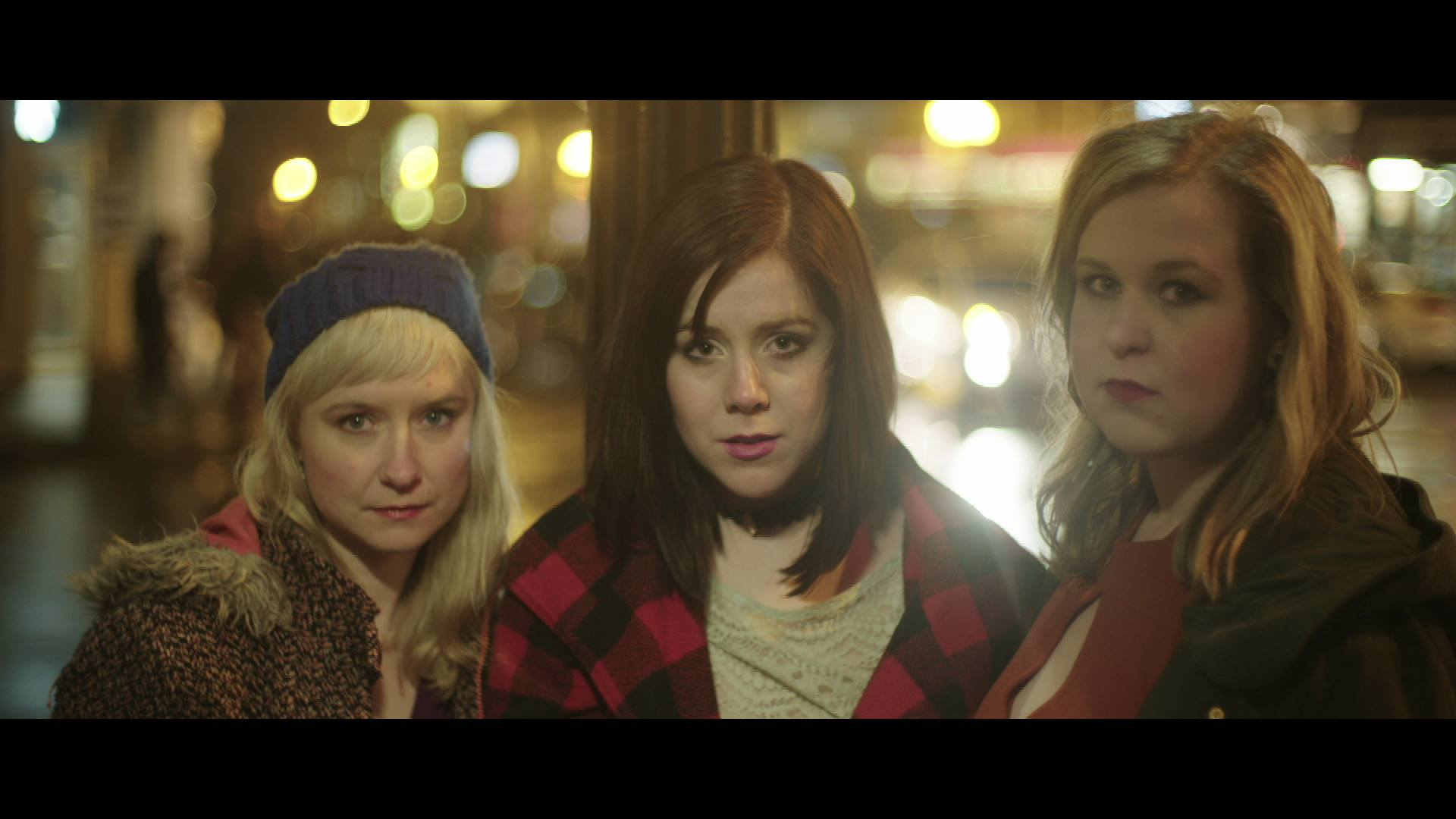 Siri Hammond with Rachel Austin and Emily Zimmer in a production still of A Winter Love, directed by Rhiana Yazzie