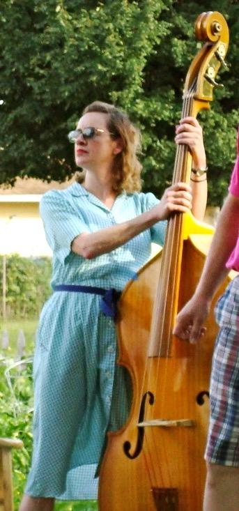 Janet playing upright bass