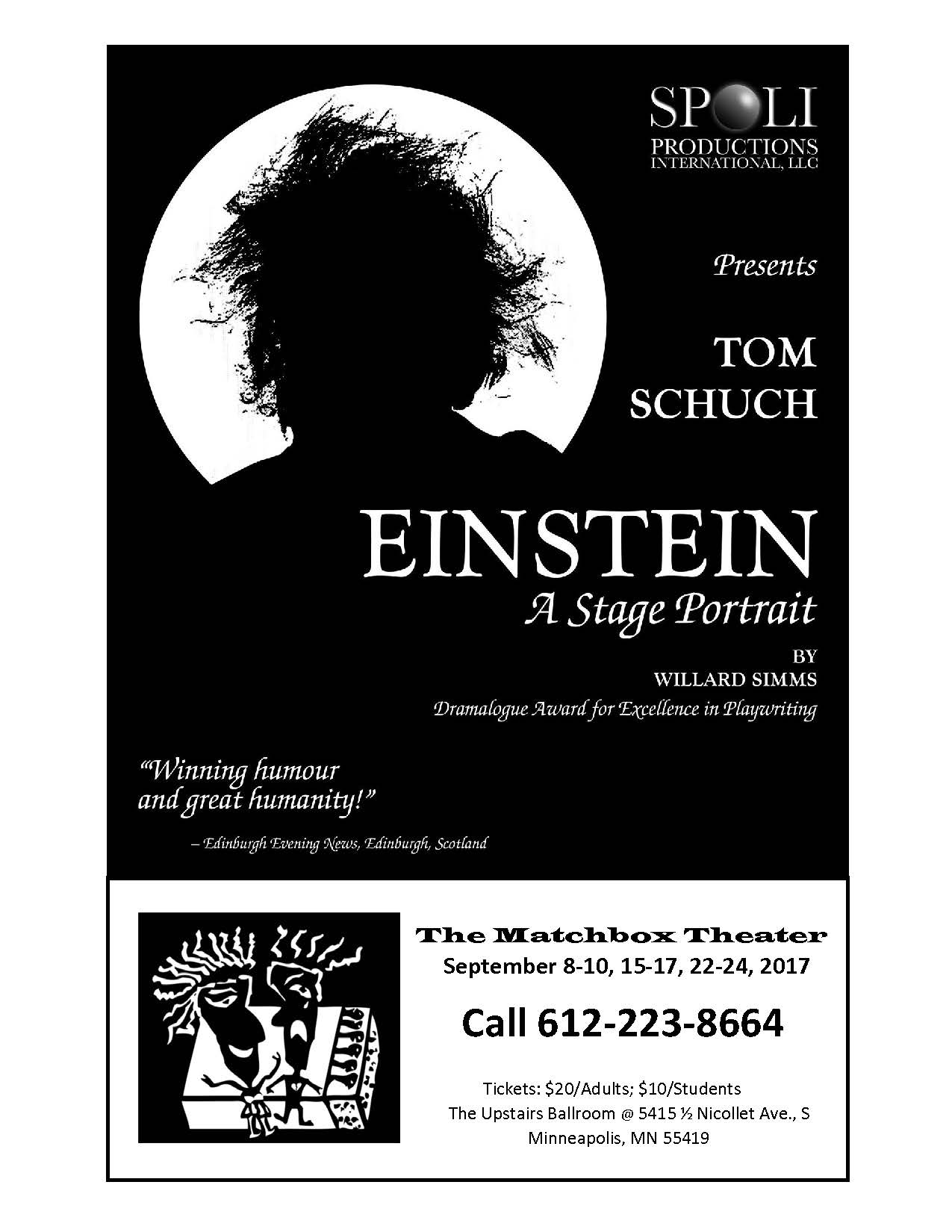 Albert Einstein; The Matchbox Theater; Tom Schuch