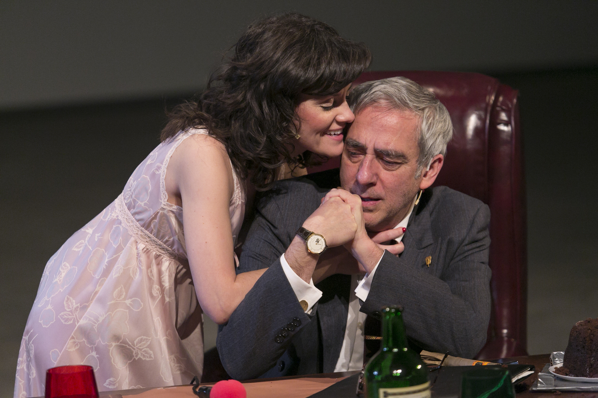 Sara Marsh & Robert Dorfman in THE HOTHOUSE by Harold Pinter; Photo: Heidi Bohnenkamp