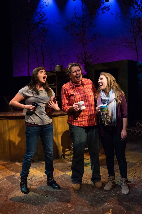 Martha Wigmore as Hannah in the Spitfire Grill with Katherine Strom and Christy Jones
