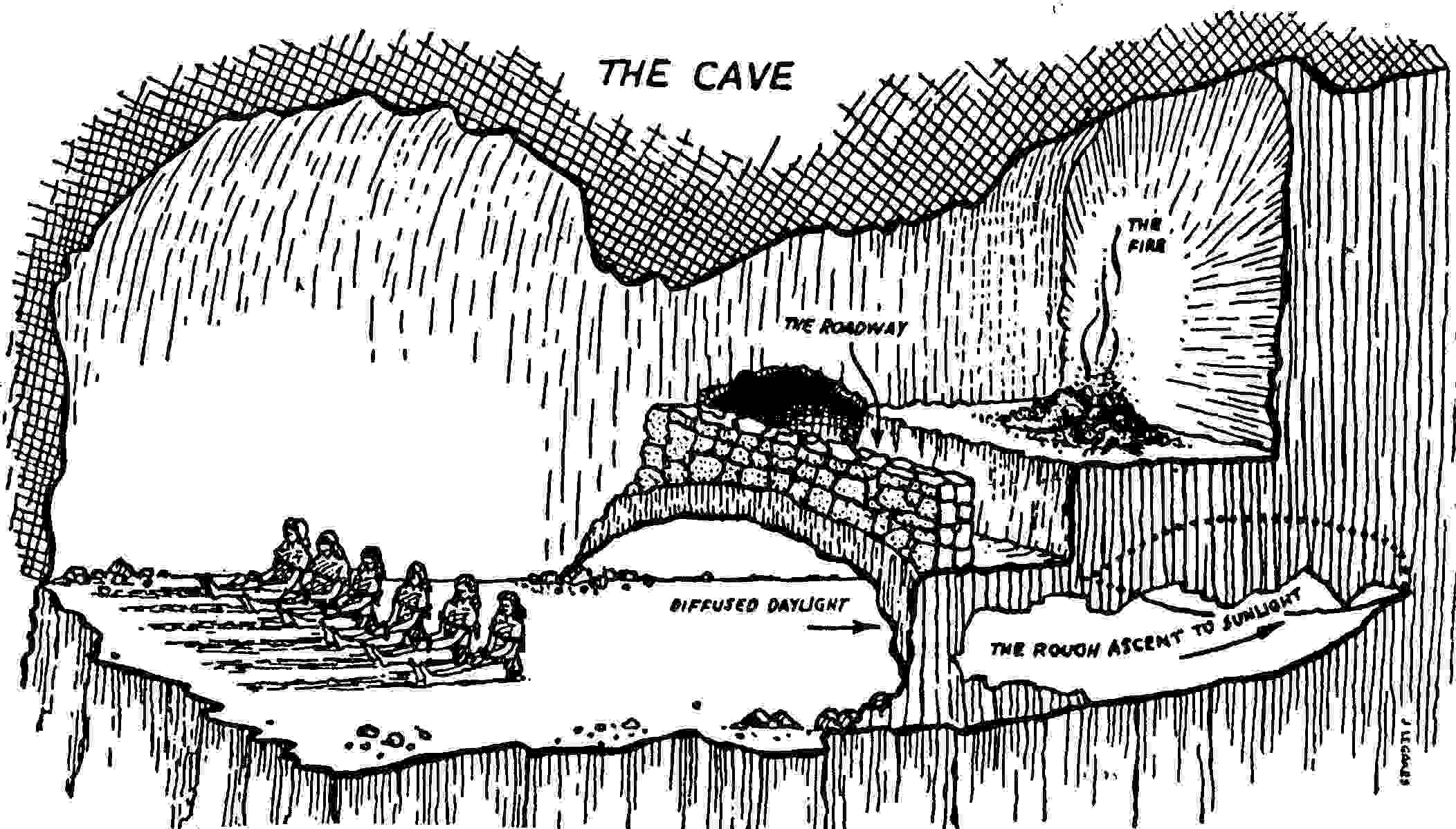 an analysis of the allegory of cave and myth of sisyphus by plato