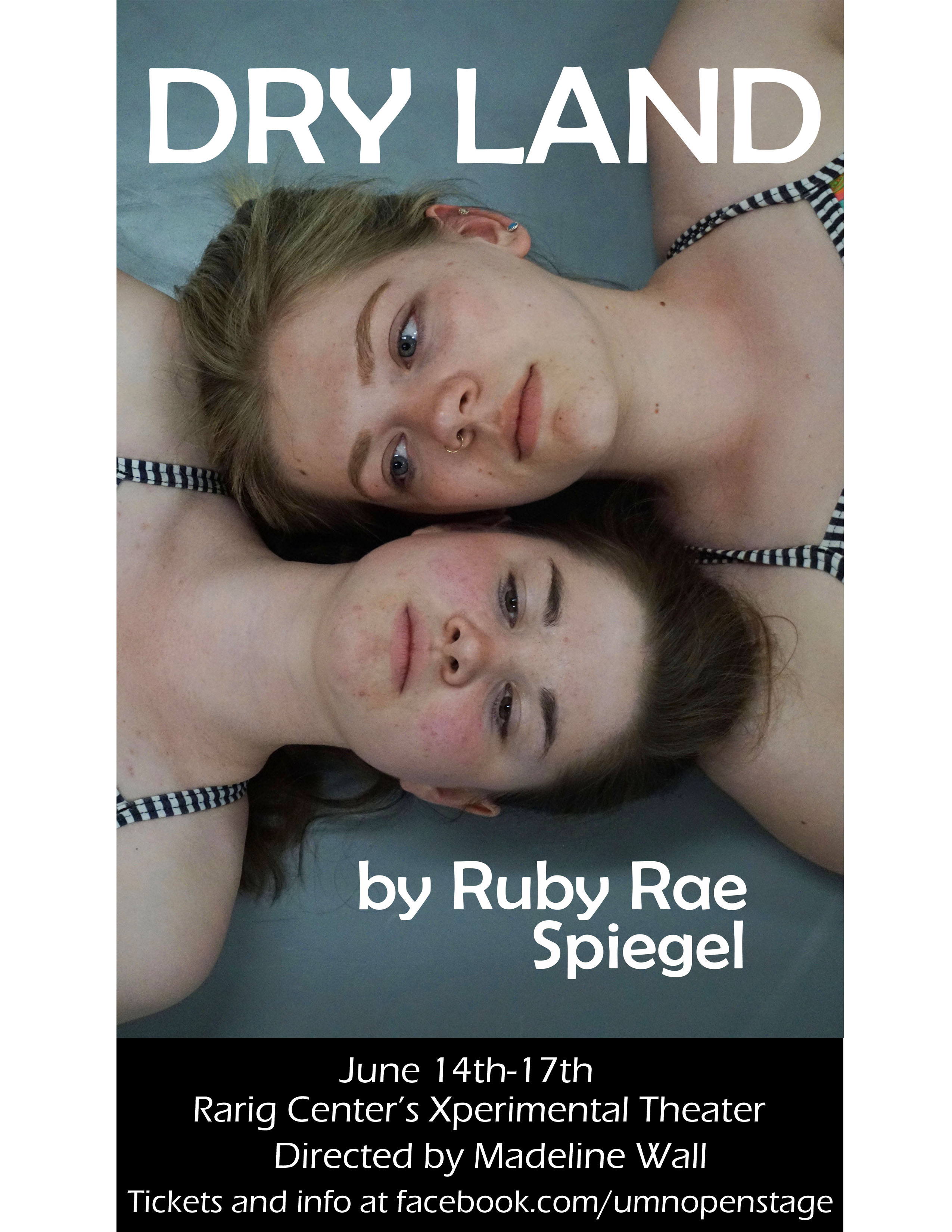 "Poster for 2018 production of ""Dry Land"""