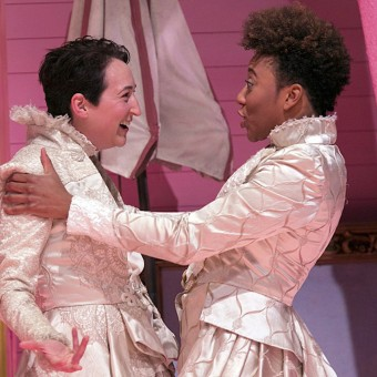 Mo Perry and Christiana Clark in 2 Gentlemen of Verona
