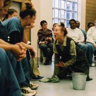 Barbara Kingsley performs Brecht's Good Person of Setzuan for women inmates.