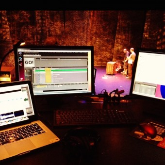 The sound designer's view from the tech table.