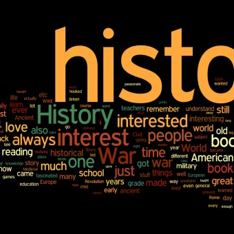 word cloud of history