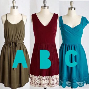 Three dresses for Ivey Consideration