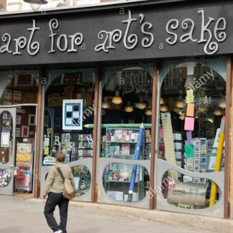 Art for Art's Sake shop in Muswell Hill, London, England