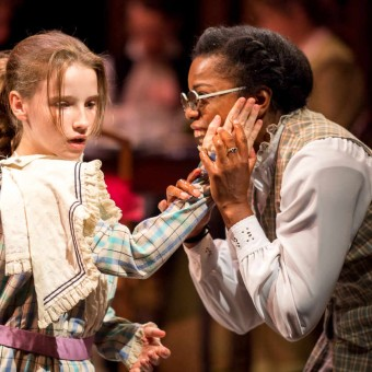 Catie Bair as Helen and Kaira Jackson as Annie Sullivan in The Miracle Worker