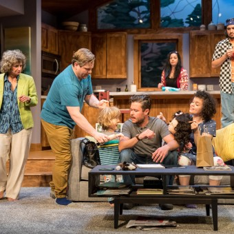 Left to Right: Joyce (Sally Wingert), Oscar (Reed Sigmund), Brad (John Catron) and Evie (Megan M. Burns) with Lilith (George Keller) and Calvin (Nate Cheeseman) in the background