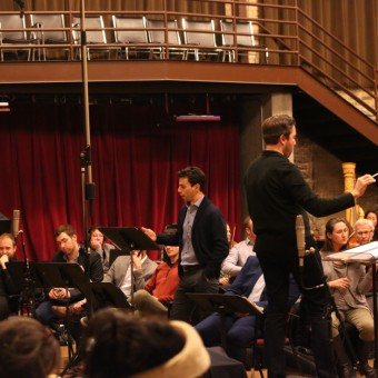 Pictured: Dennis Petersen, Kelly Markgraf, Timothy Myers, MN Opera orchestra & ensemble