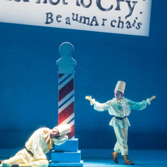 """Liam Beck-O'Sullivan as Figaro's Assistant in Minnesota Opera's """"The Barber of Seville."""" Photo: Dan Norman."""