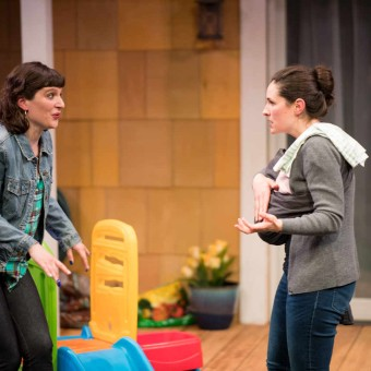 Katie Consamus & Taous Claire Khazem In Cry it Out at Yellow Tree Theatre