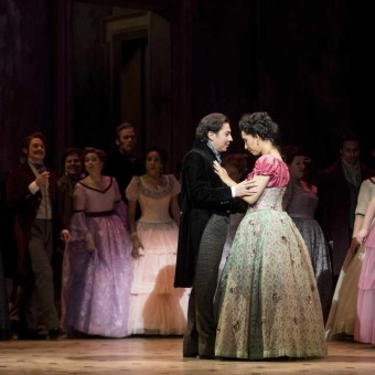 Jesús Leónas Alfredo Germont and Nicole Cabell as Violetta Valéryin MinnesotaOpera's production of La Traviata