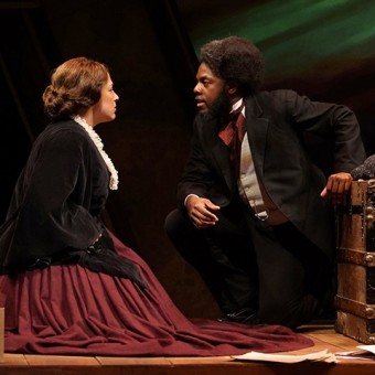 Emily Halaas and Mikell Sapp in The Agitators