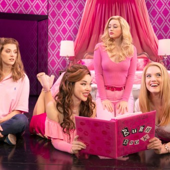 "National Tour of ""Mean Girls."" Photo by Joan Marcus. (L-R) Danielle Wade (Cady Heron), Megan Masako Haley (Gretchen Wieners), Mariah Rose Faith (Regina George), Jonalyn Saxer (Karen Smith)"