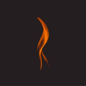 image of a single flame on black background