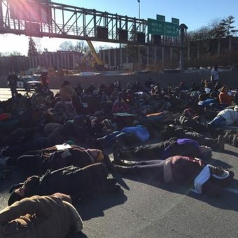 Black Lives Matter protest on highway