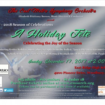 The East Metro Symphony Orchestra (EMSO) presents A Holiday Fête