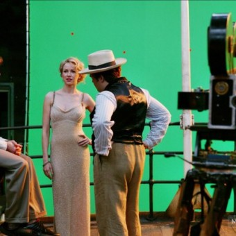 Behind the scenes of King Kong with green screen
