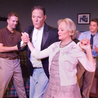 "Karen Landry and Chris Mulkey in ""Leaving Home"" at the Ruskin Theater"
