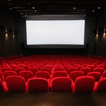 Inside a theater