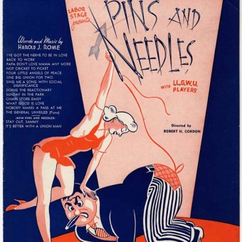 Harold Rome's first revue, Pins and Needles, poster.