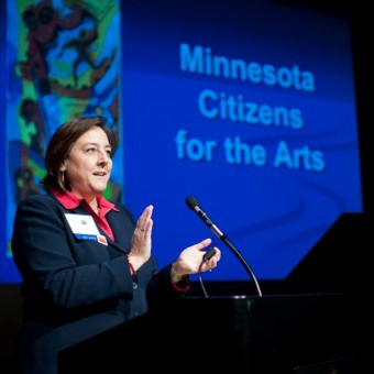 Sheila Smith at morning rally - Arts Advocacy - magazine - minnesota playlist