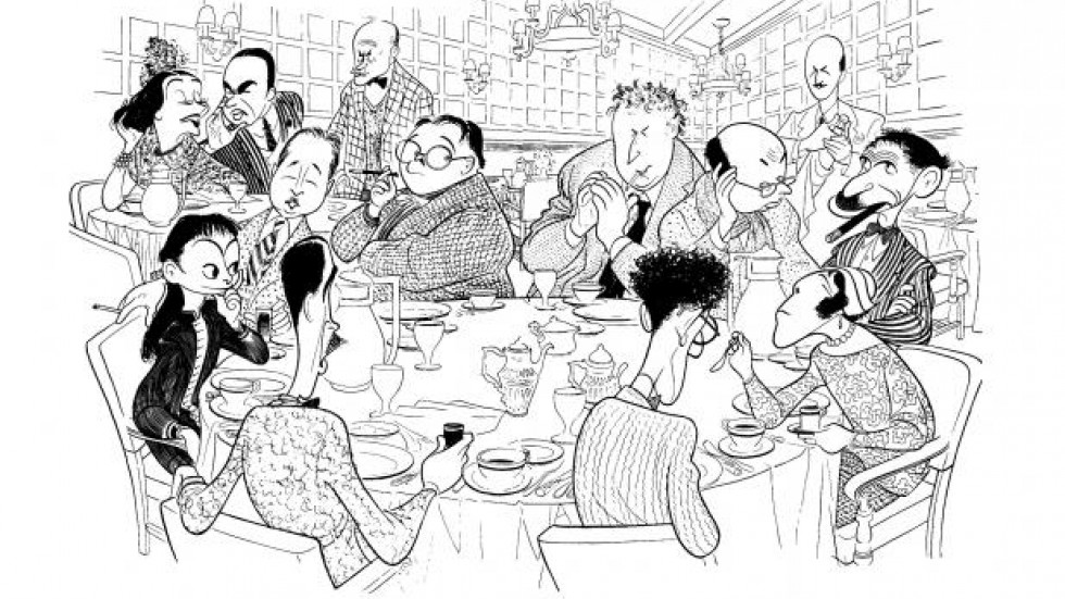 Caricature of the vicious circle by Al Hirschfeld