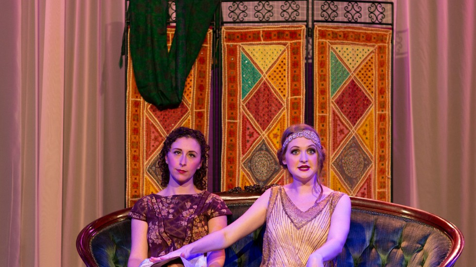 Photo by Jessica Holleque, courtesy of Theatre Elision. Pictured: Serena Brook and Christine Wade.