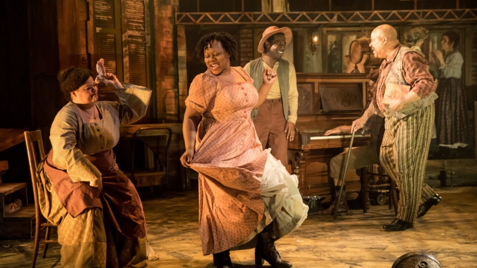 Thomasina Petrus (Pauline King), Ivory Doublette (Stella Lane), Lamar Jefferson (Willie Lane), and T. Mychael Rambo (Pete Lane)