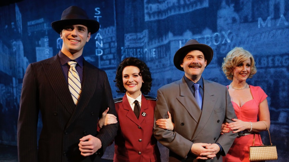 """Production shot from """"Guys and Dolls"""" at the Old Log Theatre"""