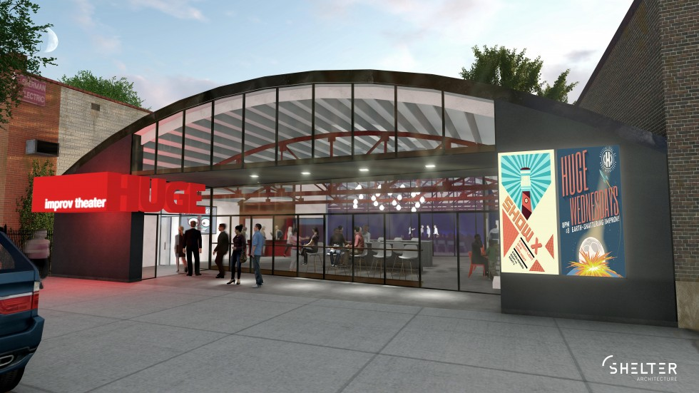 Plans for HUGE Improv Theater's new space