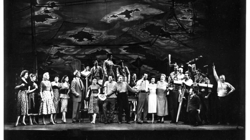 """The cast of the original production of """"Pipe Dream""""."""