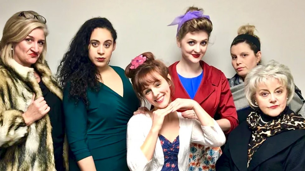 the cast of ruthless presented by Theatre Elision
