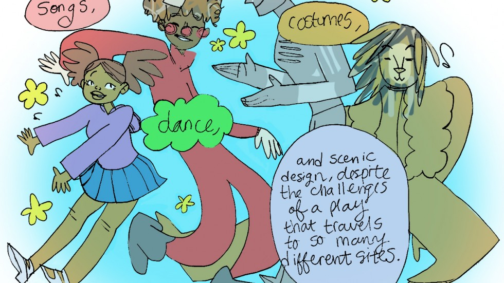 Comic panel from Theatre Thoughts with the Ever Learning Actor