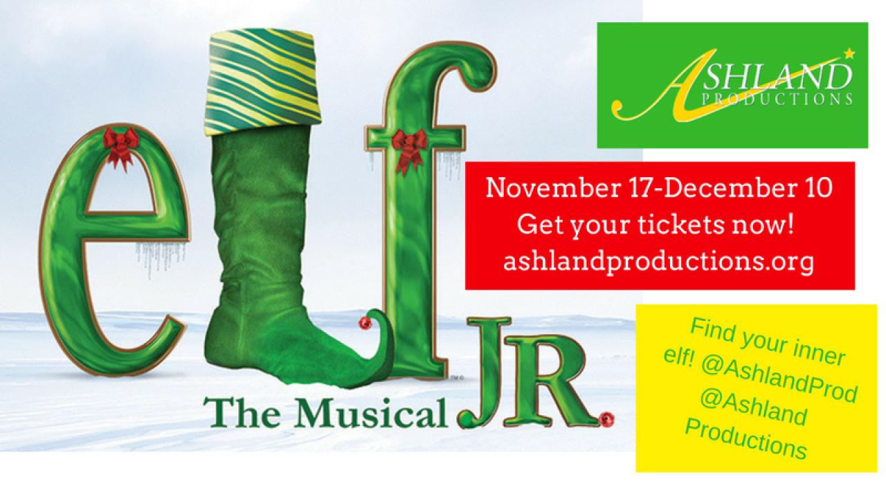 Elf the Musical Jr poster graphic